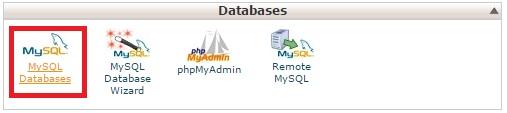 MySQL Databases در هاست سی پنل