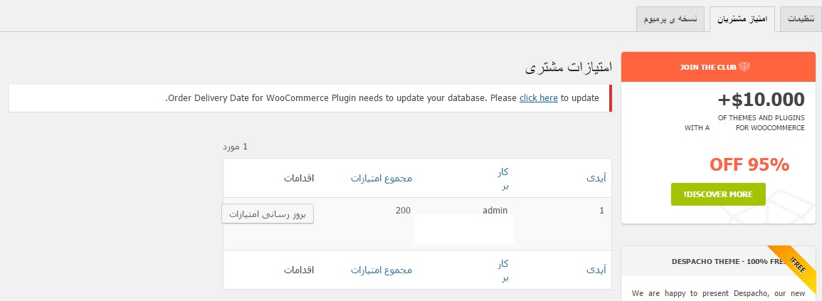 امتیازدهی به مشتریان در ووکامرس 3