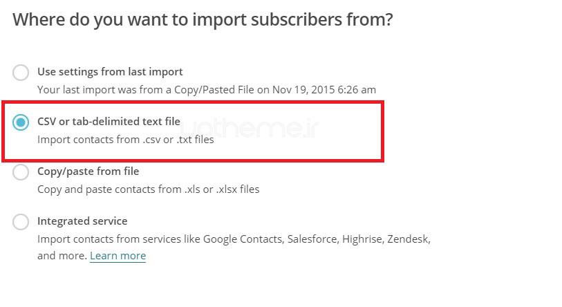 ارسال خبرنامه با Mailchimp 3