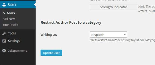 محدود کردن نویسنده در وردپرس