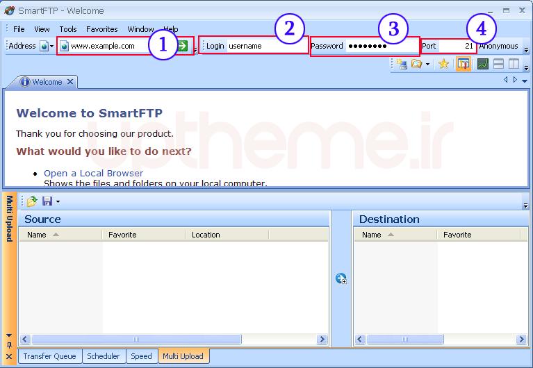 نرم افزار SmartFtp