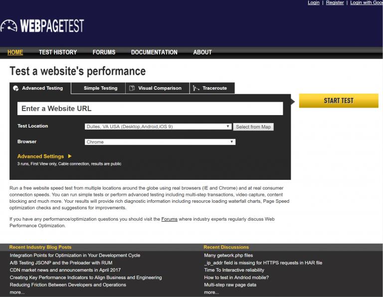 webpagetest-