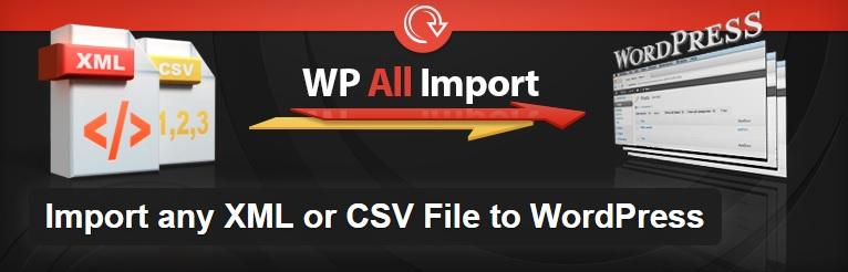 افزونه WP all importer